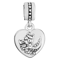 Charms Beads - ZODIAC ANIMAL SIGN DRAGON HEART LOVE DANGLE EUROPEAN BEADS FIT ALL BRANDS CHARMS BRACELETS alternate image 2.