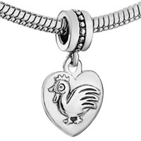 Charms Beads - ZODIAC ANIMAL CHARMS FOR SIGN COCK DANGLE HEART LOVE CHARM BEADS alternate image 1.