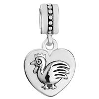 Charms Beads - ZODIAC ANIMAL CHARMS FOR SIGN COCK DANGLE HEART LOVE CHARM BEADS alternate image 2.