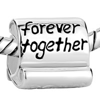 Sterling Silver Jewelry - 925  STERLING SILVER FAMILY FOREVER TOGETHER FIT BEADS CHARMS BRACELETS ALL BRANDS alternate image 1.
