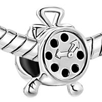 Sterling Silver Jewelry - 925  STERLING SILVER ALARM CLOCK FITS BEADS CHARMS BRACELETS FIT ALL BRANDS alternate image 1.