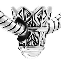 Sterling Silver Jewelry - 925  STERLING SILVER BADMINTON FITS BEADS CHARMS BRACELETS FIT ALL BRANDS alternate image 1.