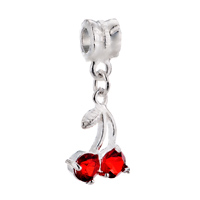 Charms Beads - JULY CHERRY FIT ALL BRANDS DANGLE EUROPEAN BEADS CHARMS BRACELETS alternate image 1.