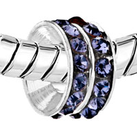 European Beads - FEBRUARY NOVEMBER BIRTHSTONE CRYSTAL BEADS CHARMS BRACELETS alternate image 2.