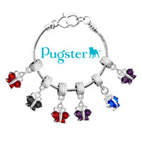 DPC_HD04_X02: SILVER BUTTERFLY CHARM BRACELET AMETHYST PURPLE FEBRUARY BIRTHS SPACER alternate image 3.
