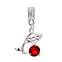Charms Beads - JULY BIRTHSTONE DOLPHIN CRYSTAL DANGLE EUROPEAN BEAD CHARM BRACELETS alternate image 2.