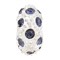 Charms Beads - WHITE BALL JUNE BIRTHSTONE ALEXANDRITE CRYSTAL STRIPE EUROPEAN BEAD alternate image 2.