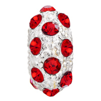European Beads - JULY BIRTHSTONE LIGHT RED CRYSTAL WHITE BALL ALL BRAND BEADS CHARMS BRACELETS alternate image 2.