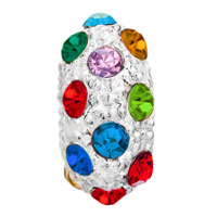 European Beads - MULTI COLOR CRYSTAL DIAMOND ACCENT CLEAR WHITE BALL ALL BRAND BEADS CHARMS BRACELETS alternate image 2.
