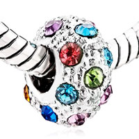 Charms Beads - FASHION MULTICOLOR CRYSTAL BIRTHSTONE EUROPEAN BEAD CHARM BRACELETS alternate image 1.