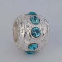 Charms Beads - BIRTHSTONE CHARMS PALE BLUE CRYSTAL MARCH BIRTHSTONE SURROUND BEADS alternate image 1.