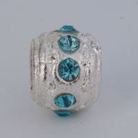 Charms Beads - BIRTHSTONE CHARMS PALE BLUE CRYSTAL MARCH BIRTHSTONE SURROUND BEADS alternate image 2.