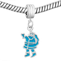 Charms Beads - BLUE SANTA CLAUS FIT ALL BRANDS DANGLE EUROPEAN BEADS CHARMS BRACELETS alternate image 1.