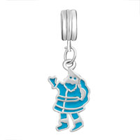Charms Beads - BLUE SANTA CLAUS FIT ALL BRANDS DANGLE EUROPEAN BEADS CHARMS BRACELETS alternate image 2.