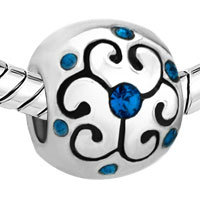 Charms Beads - JEWELRY AQUAMARINE BIRTHSTONE FLOWER FIT ALL BRANDS BEADS CHARMS BRACELETS alternate image 1.