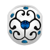 Charms Beads - JEWELRY AQUAMARINE BIRTHSTONE FLOWER FIT ALL BRANDS BEADS CHARMS BRACELETS alternate image 2.