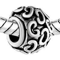 Charms Beads - SILVER PLATED CSHAPED EUROPEAN BEAD CHARMS INFANT CHARMS BRACELETS alternate image 1.