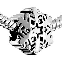 European Beads - SNOWFLAKE ALL BRANDS SILVER PLATED BEADS CHARMS BRACELETS alternate image 1.