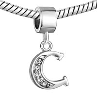 Charms Beads - LETTER BRACELET CHARMS INITIAL C DANGLE ALPHABET EUROPEAN BEAD alternate image 2.