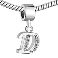 Charms Beads - LETTER BRACELET CHARMS INITIAL D DANGLE ALPHABET EUROPEAN BEAD alternate image 1.