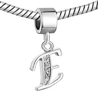 Charms Beads - LETTER BRACELET CHARMS INITIAL E DANGLE ALPHABET EUROPEAN BEAD alternate image 1.