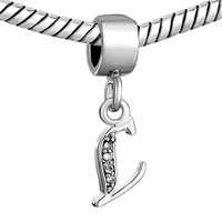 Charms Beads - LETTER BRACELET CHARMS INITIAL L DANGLE ALPHABET EUROPEAN BEAD alternate image 1.