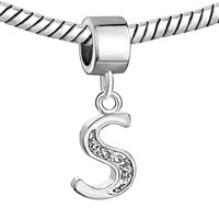 Charms Beads - LETTER BRACELET CHARMS INITIAL S DANGLE ALPHABET EUROPEAN BEAD alternate image 1.