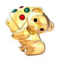 Charms Beads - TEDDY CARE BEAR CHARM BRACELET HEART FOREVER LOVE HOLDING TREE alternate image 2.