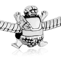 Charms Beads - PUGSTER? BEAD HAPPY CARTOON TURTLE FIT ALL BRANDS BEADS CHARMS BRACELETS alternate image 1.