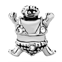 Charms Beads - PUGSTER? BEAD HAPPY CARTOON TURTLE FIT ALL BRANDS BEADS CHARMS BRACELETS alternate image 2.