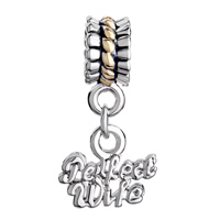 Charms Beads - SILVER PLATED FLOWER CHARMS BRACELETS DANGLE WORDS PERFECT WIFE alternate image 2.