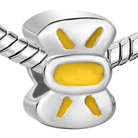 Charms Beads - BOWTIE YELLOW DRIP GUM FIT ALL BRANDS BEADS CHARMS BRACELETS alternate image 1.