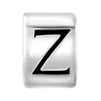 Charms Beads - SILVER PLATED LETTER BRACELET CHARM INITIAL Z ALPHABET EUROPEAN BEAD alternate image 2.
