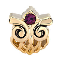 Charms Beads - BEADS FILIGREE LOVELY BODY GOLDEN HARRY POTTER FAN OWL BRACELET CHARM alternate image 2.