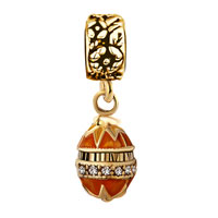New Year Deals - GOLDEN FABERGE EGG DANGLE BEAD CHARM BRACELETS BEAD CHARM BRACELETS alternate image 2.