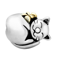 Charms Beads - MOTHERS DAY GIFTS 22K GOLD FORTUNE CAT ANIMAL CHARM FOR BRACELET CHARM alternate image 2.