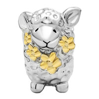 Charms Beads - MOTHERS DAY GIFTS 22K GOLD CUTE SHEEP ANIMAL CHARM FOR BRACELET CHARM alternate image 2.