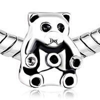Charms Beads - SILVER PLATED CUTE PANDA ANIMAL CHARMS FOR BRACELETS EUROPEAN BEAD alternate image 1.
