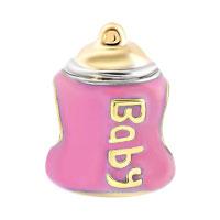 Charms Beads - MOTHER DAUGHTER CHARM ROSE BABY CHARM BRACELET FEEDING BOTTLE BEADS alternate image 2.
