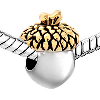 Charms Beads - SILVER GOLD LEAF ACORN FRUIT EUROPEAN BEAD DESIGNER CHARM BRACELETS alternate image 1.