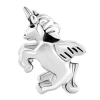 New Year Deals - SILVER PLATED SILVER TONE UNICORN ANIMAL CHARMS FOR BRACELETS alternate image 2.