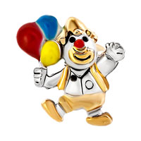 Charms Beads - GOLD CLOWN JUMPPING COLORFUL BALLOON BEAD DESIGNER CHARM BRACELETS alternate image 2.