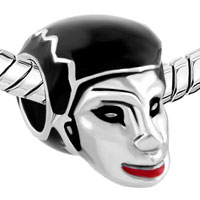 Charms Beads - SILVER LIGHT RED SEXY LIP HALLOWEEN BRIDE OF FRANKENSTEIN BEAD CHARM alternate image 1.