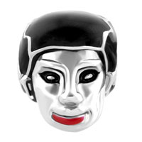 Charms Beads - SILVER LIGHT RED SEXY LIP HALLOWEEN BRIDE OF FRANKENSTEIN BEAD CHARM alternate image 2.