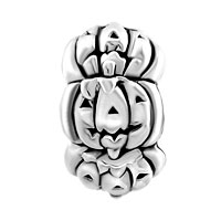 Charms Beads - SILVER CUTE JACKO LANTERN HALLOWEEN PUMPKIN BEAD CHARM BRACELETS alternate image 2.