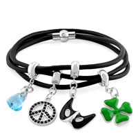 Charms Beads - SILVER TONE CLIP LOCK STOPPER ACCESSORIES FIT ALL BRANDS BRACELETS alternate image 2.