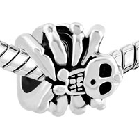 Charms Beads - SILVER PLATED HALLOWEEN BEAD GIFTS SKULL CHARM BRACELET SPIDER alternate image 1.