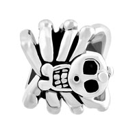 Charms Beads - SILVER PLATED HALLOWEEN BEAD GIFTS SKULL CHARM BRACELET SPIDER alternate image 2.