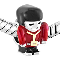 Charms Beads - RED UNIFORM BRITISH QUEEN' S GUARDER FOR BEADS CHARMS BRACELETS FIT ALL BRANDS alternate image 1.
