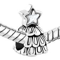 Charms Beads - SILVER PLATED GUIDING STAR CHRISTMAS CHARM BRACELET TREE BRACELETS alternate image 1.